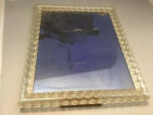 Picture Photo Frame Acrylic Clear Lucite Plastic Mid Century Modern Vintage 50s