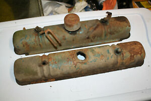 Used 1956 Buick Special Oem 2 Dr 322 Nailhead Valve Covers Rat Rod Part