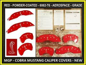 15 20 Ford Mustang Gt Cobra Mgp Front Rear Brake Caliper Cover Shelby Red 6061t6