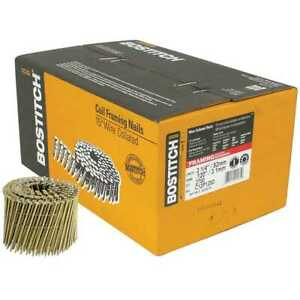 Bostitch C12p120d Box Of 2700 3 1 4 Smooth Shank 15 Coil Framing Nails New