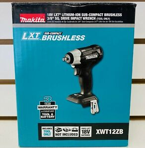 Makita 3 8 Cordless Impact Wrench 18 0 Voltage 130 Ft lb Xwt12zb