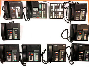 Northern Telecom Complete Phone System With Meridian M7208 M7324 Nt8b41 Phones