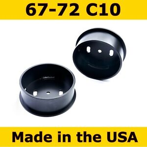 Front Air Ride Suspension Bag Cups For 67 72 Chevy C10 2 Cups