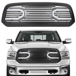 Big Horn Matte Black Grille Replacement Shell Light For 13 18 Dodge Ram 1500
