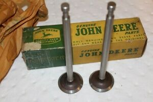 2 New Old Stock Genuine John Deere A Exhaust Valves A4239r Aa4959r Aa1811r