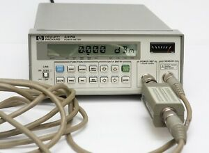 Hp Keysight 437b Power Meter 8485a Sensor 11730b Cable Adapter 50mhz 26 5ghz