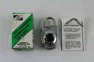 Sargent Greenleaf 8077ad Key Changing Combination Padlock S g Nos Boxed W Key