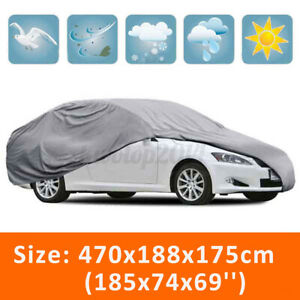 Large Car Cover Waterproof Uv Sun Snow Dust Rain Resistant Storage Protection Us