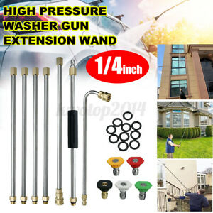 7xhigh Pressure Washer Extension Spray Wand 1 4 Replacement Lance With Nozzles