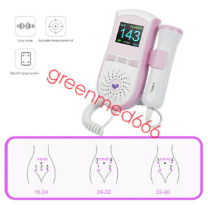 Portable Color Lcd Display Pocket Fetal Doppler Prenatal Heart Baby Heart Monito