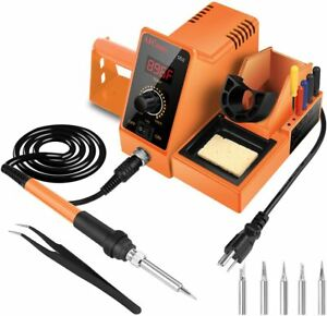 Aicase Digital Soldering Iron Station 60 watt 110 Volt 392 f 896 f 6 Rapid