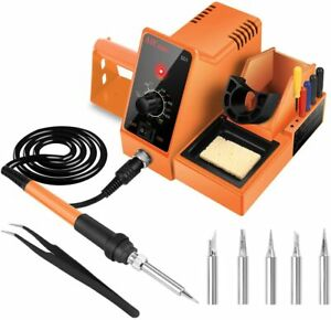 Aicase Soldering Iron Station 60 watt 110 Volt 392 f 896 f c F 6 Seconds