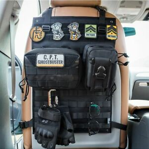 Tactical Molle Car Seat Organizer Seat Back Car Seat Edc Holder Cover Protector