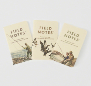 New sealed Field Notes X Abercrombie Fitch 3 pack Memo Books limited Edition