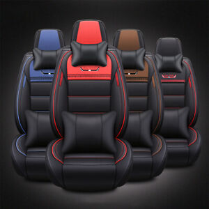 Universal Luxury 5 Seats Car Suv Seat Front Rear Covers Cushion Mat Pillow Kit