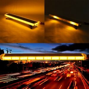 47 88led Flash Warning Strobe Light Bar Amber Yellow Emergency Beacon Tow Truck