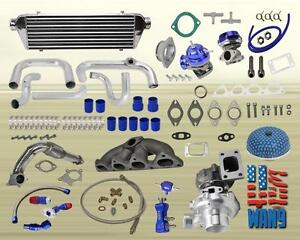 Honda Civic Complete Turbo Kits B Series Ex Si 1 6l Dohc Vte L4 450hp B16 B18 R