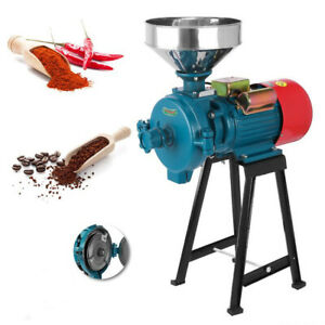 110v Electric Mill Cereals Grinder 2 2kw Corn Grain Feed Flour Grinding Machine