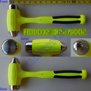 New Snap On Hi Visibility Yellow Dead Blow Ball Peen Softgrip Hammer Hbbd32 32oz