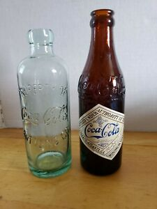 2 BOTTLES FROM the COCA-COLA 100 ANNIVERSARY CENTENNIAL CELEBRATION SET 1986