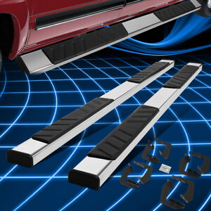 For 07 20 Toyota Tundra Crewmax Cab 4 5 Chrome S s Side Step Bar Running Boards