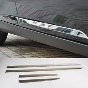 For Ford Focus 3 2012 2018 Chrome Door Side Line Body Molding Trim Cover Strips