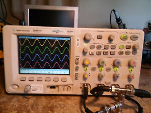 Agilent Mso6014a 4 Channel 100mhz 2gs s Mso Oscilloscope With All Probes