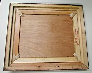 Ornate Vtg Wood Gold Picture Frame Made In Mexico 12 25 X 14 25 Inside 8 X 10