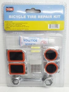 Bike Tire Repair Kit Plug Patch Fix Tube Rubber Wrench Tool Puncture New 601020