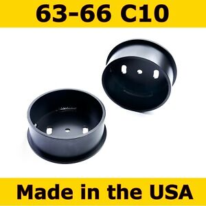 Front Air Ride Suspension Bag Cups For 63 66 Chevy C10 2 Cups