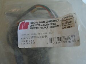 Federal Signal Ipx603b r Red new Old Stock