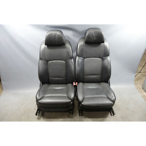 2010 2013 Bmw F01 7 series F10 Front Comfort Climate Seat Pair Black Leather Oem