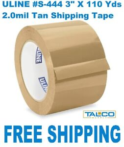 4 Uline s 444 Industrial Pack Ship Tape 3 X 110 Yds Tan free Shipping