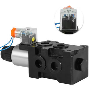13 Gpm Hsv6 c Hydraulic Solenoid Operated Selector Diverter Valve 12 Volt Dc
