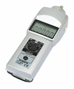 Shimpo Dt 105a Contact Style Digital Handheld Tachometer Lcd 6in Wheel