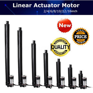 4 10 16 Inch Linear Actuator Stroke 900n 225 Lbs Pound Max Lift 12v Volt