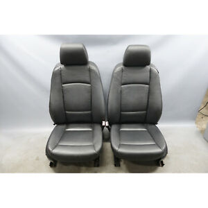 2007 2010 Bmw E92 3 Series 1 Series Coupe Front Basic Seat Pair Black Leather Oe