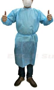 Dental 20pcs Disposable Coveralls Surgical Gown Dust proof Isolation Cloths Blue