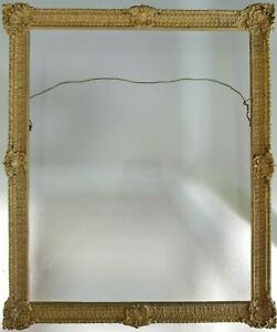 Vintage 8 X 9 5 8 Wooden Picture Frame Painting Frame Ornate Gold Painted