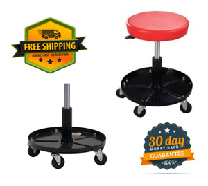 Pneumatic Chair Mechanic Rolling Seat Wheeled Garage Adjustable Height Stool New