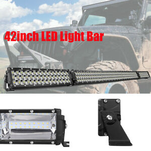 40 40inch Led Light Bar Curved Folding 7d Triple Row Off Road Driving For Jeep
