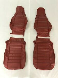 Porsche 911 1974 1976 Front Seat Covers standard Seats Red Pigskin Leather