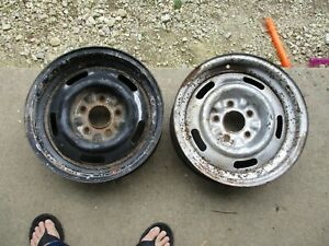 2 1969 70s Corvette Chevelle Camaro Monte Carlo 15x6 Rally Wheels Ralley Oem 70