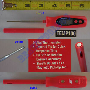 New Snap On Red Multi Functional Thermometer Temp100
