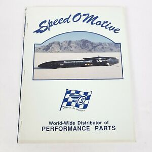1989 Speed O Motive Catalog Kit Vtg Car Truck Parts Hot Rod Drag Racing Speed