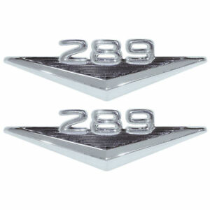 New 1965 66 Mustang 289 Fender Emblems Pair 1963 64 Fairlane 1965 Falcon Ford