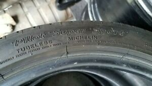 Michelin Pilot Super Sport 255 35 R18 97 Y Tire Used Condition 3 4 32nds