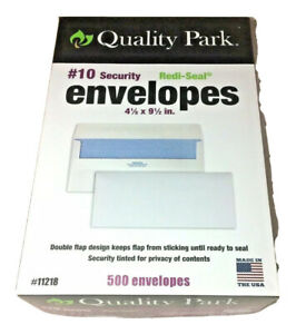 500 Quality Park Redi seal Security Tinted Envelope 10 White 11218 4 1 8 X 9 5