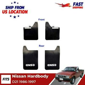 Splash Guard Rubber Mud Flaps Front Rear Fit For Nissan Hard Body Pickup 1986 97