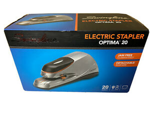 Swingline Optima 20 Electric Stapler Desktop Auto manual 20 Sheets Silver